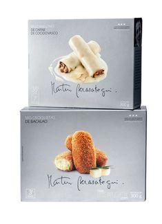 Frozen food pack. Designed by Enric Aguilera for celebrity chef Martin Berasategui of Spain's 3 Estrellas Michelin Restaurant.