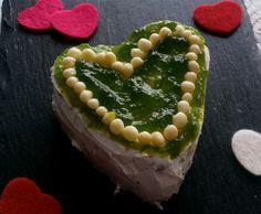 cake de manzana y piña con queso crema y mermelada de manzana verde