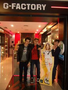 Xabiani,Diego and Jorge with Tini 🤗😜😅😂😋😘😝😛🤑🤓