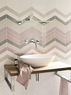 Feb 9 'The Interior Design Trends in - With Rockett St George & Busola Evans - douche Bathroom Colors Gray, Grey Bathroom Tiles, Grey Bathrooms, White Bathroom, Bathroom Flooring, Bathroom Interior, Pastel Bathroom, White Shower, Modern Bathroom