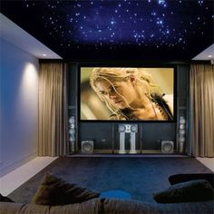small home theater.... how in the hell do i get my ceiling to look like that, because i would love to live under the stars always