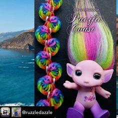 Rubber Band Crafts, Rainbow Loom Patterns, Rainbow Loom Bracelets, Loom Bands, Design Tutorials, Crafts For Kids, Crochet Hats, Girls, Bracelets