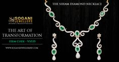 The Siham Diamond Necklace The art of Transformation. Item Code- VS535 Shop Now- www.soganijewellers4u.com