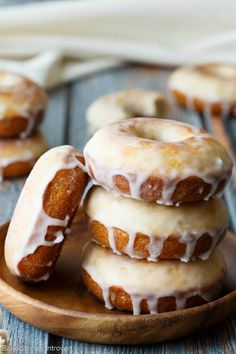 These donuts are crazy good! Baked Old Fashioned Donuts with buttermilk, a thick…