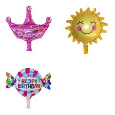 3 Pack of Mylar Balloons - 5 Themes to Choose From!