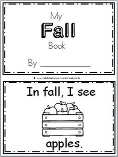 "Free Fall Book for Kindergarten Practice reading the words ""I see…"" There are 9 pages in this October book. You can print and use all the pages or just the ones that you prefer … Free Fall Book for Kindergarten Practice reading the words Fall Preschool Activities, Language Activities, Kindergarten Classroom, Kindergarten Apple Theme, Seasons Kindergarten, Preschooler Crafts, Kindergarten Thanksgiving, Kindergarten Language Arts, Art Activities"