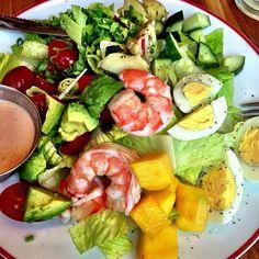 (Fan photo credit: @goldenchild5) #Instagram #shrimp #avocado #salad