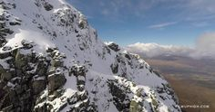 On Friday 13th March 2015 I took my Phantom 2 drone fitted with a GoPro Hero 4 up onto the North Face of Ben Nevis to do some aerial filming.   I climbed Ledge Route, a grade 2 winter mountaineering route, and filmed myself as I climbed.   This project took 4 batteries and I was racing to climb faster than the batteries faded, whilst composing the shots and trying to get the footage I wanted. Its pretty difficult doing it this way, the ultimate mountain selfie perhaps, its definitely easier…
