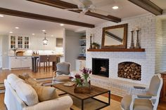 9 Creative And Inexpensive Tricks: Fireplace Design fixer upper fireplace doors.Tv Over Fireplace Rock tv over fireplace height.Fireplace Living Room Home Tours. Painted Brick Fireplaces, Faux Fireplace, Fireplace Ideas, Fireplace Design, Double Fireplace, Fireplace Drawing, Wood Mantle, Fireplace Cover, Fireplace Shelves