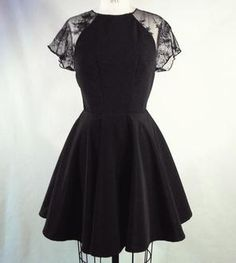 Kate Black Fit & Flare Dress