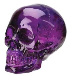 Beautiful and yet a little bit disquieting Purple skull.