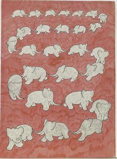 Jean de Brunhoff, 'Histoire de Babar, le petit éléphant (The Story of Babar)' (1931). (Morgan Library & Museum)
