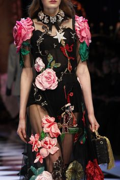 Details from Dolce & Gabbana Fall 2016. Milan Fashion Week.