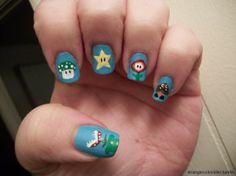 15 Fotos de uñas pintadas de Mario Bross | Decoración de Uñas