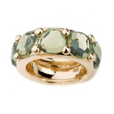 Pomellato Narciso Ring Pink gold ring with Prasiolite gemstones