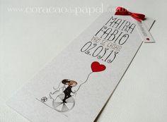 Convite de casamento diferente e alternativo. Foto: Coração de Papel.