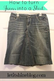 Let It Shine: Tutorial : Turn A Pair of Jeans Into A Jean Skirt!