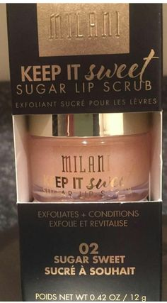 Milani sugar lip scrub
