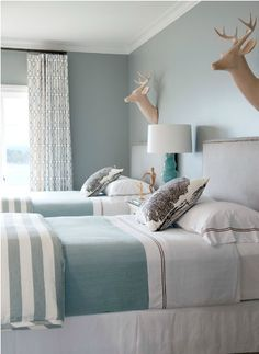 Matching Twin Upholstered Headboards via Bear-Hill Interiors