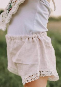 Handmade Linen & Lace Bloomers | Etsy