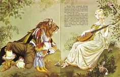 Beauty and the Beast  from Deans A Book of Fairy Tales. Illustrated by Janet & Anne Grahame Johnstone. 1977.