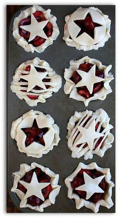 Cherry Pie : made in muffin cups for individual servings!