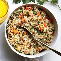 These common mistakes can sabotage a simple rice dish.Yes, we'll admit it. We are often tempted by those grocery-aisle pouches advertising easy, pre-portioned, fully-cooked rice in a matter of minutes. But it's time to ditch … Lima Beans And Ham, Brown Rice Pilaf, Rice Side Dishes, Brown Rice Recipes, Vegetable Casserole, How To Cook Rice, Side Dish Recipes