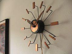 mid century modern vintage STARBURST CLOCK Weinberg Nelson style eames | eBay
