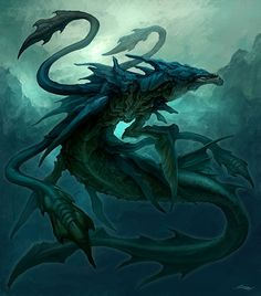 The power to use the abilities of the Leviathan. Variation of Mythical Bestiary and Giant Monster Physiology. User with this ability either is or can transform into a Leviathan, a primal unconquerable monster of the sea. Alien Creatures, Magical Creatures, Fantasy Creatures, Sea Creatures, Monster Art, Monster Design, Creature Concept Art, Creature Design, Fantasy Dragon