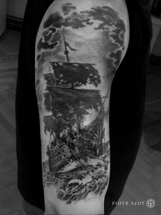 http://tattooideas247.com/ghost-ship/ Ghost Ship #Ghost, #Horror, #Sails, #Scary, #Ship