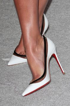 Lea Michele in Christian Louboutin Resort 2013 'Paulina' Pump #CL #Louboutins #Shoes