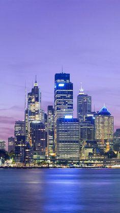 Sydney, New South Wales, Australia, Europe, Skyline, Harbour, Dusk