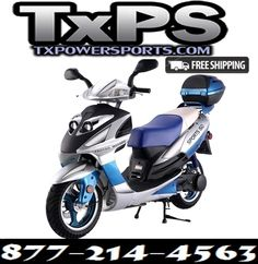 Gas Moped, 150cc Scooter, Moped Scooter, 49cc Moped, Gas Powered Scooters, Chinese Scooters, Cheap Gas, Scooters For Sale, Aluminum Rims