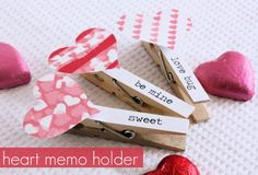 DIY Heart Memo Holder - A Spoonful of Sugar