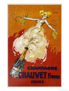 Poster for Chauvet Champagne Giclee Print by J. J. Stall at Art.com