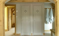 Fitted Wardrobes in a Border Oak 'Pearmain' Cottage Modern Country, Country Living, Country Style, Bedroom Built In Wardrobe, Border Oak, Paper Mulberry, Oak Frame House, Oak Bedroom, Blue Bedroom