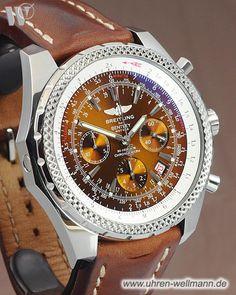 Breitling for Bentley Motors, Referenznummer: A25362, Herrenuhr, Chronograph, Gehäusematerial: Stahl (4472) -- www.uhren-wellmann.de --