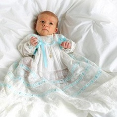 Many parents are choosing spiritual names for their baby boys. They're strong names, and can provide a direct connection to their religious faith. Check out our inspiring list of spiritual boy baby names. Boy Baptism Outfit, Baby Baptism, Christening Photos, Christening Gowns, Baby Shop Online, Baby Gown, Blue Accents, Baby Names, New Baby Products