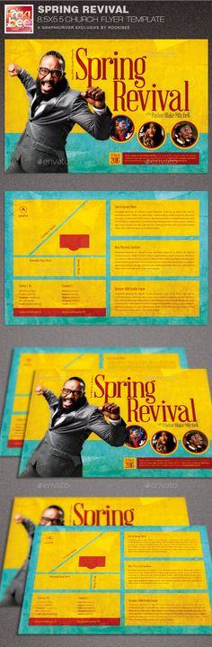 New Season Church Flyer Poster Template  Youth Camp Sermon