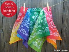 Simple Homemade Gifts - Little House Living. Bandana skirt!