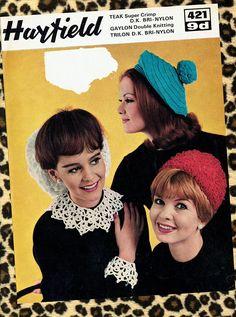 Original Vintage Ladies Snood Beret Collar & Cuffs Hat Collar And Cuff, Beret, Vintage Ladies, Cuffs, Crochet Hats, Stitch, Retro, The Originals, Trending Outfits