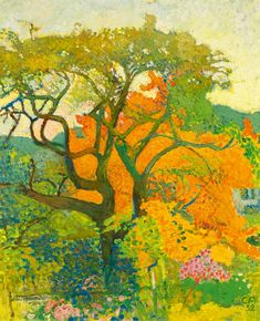 Cuno Amiet (1868-1961) was een Zwitserse schilder, tekenaar, graficus en beeldhouwer. Cuno Amiet is een van de meest veelzijdige en belangrijke schilders Zwitserland. Als enige Zwitserse schilder werd hij lid van de vereniging die Brucke. Zijn huis in Oschwand was een ontmoetingsplaats en woonplaats voor vele bevriende kunstenaars