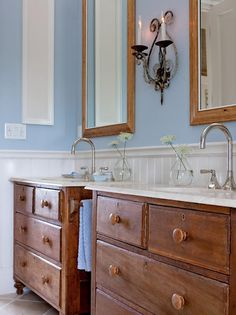 Remodeled Bathroom Vanity Using Old Dresser diy small bathroom vanity using vintage dresser from the salvation