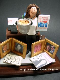 Birthday Gift for a Working Mom www.magicmud.com 1 800 231 9814 creating a custom made gift figurine for Mother based on the things she likes to do! ...incorporating her work, sports, family, hobbies, food, drink, shopping, etc. $225 #mom #mother #momsgift #wife #christmas #birthday #anniversary #custom #personalized #xmas #present #award #ChristmasGift #BirthdayGift #sister #girlfriend #aunt #BFF #physicaltherapist