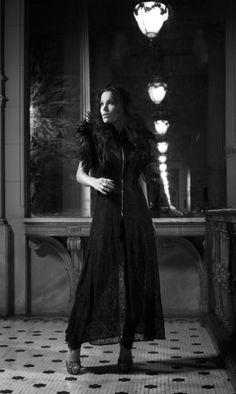 Tarja Turunen, whom I have never heard of, but I like the shadows of this image.