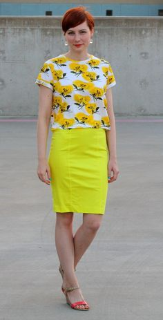 #yellow #floral #work #stylegallery