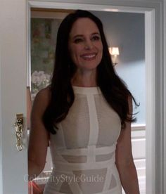 Seen on Celebrity Style Guide: Revenge Style & Fashion: Madeleine Stowe, as Victoria, wore this Antonio Berardi Detailed front straight dress on Revenge Season 3 Episode 'Fear'