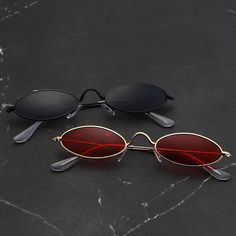 0992bfbf51 Small Oval Sunglasses for Men Brand New Designer Shades Sun Glasses Men s Sunglasses  Vintage Metal Clear Eyewear unisex Sunglass. Price Archive