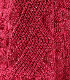 Berroco's Catalpa sweater detail