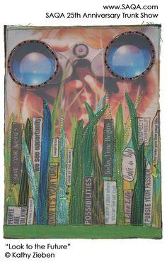 Art quilt by Kathy Zieben #artquilts #SAQA